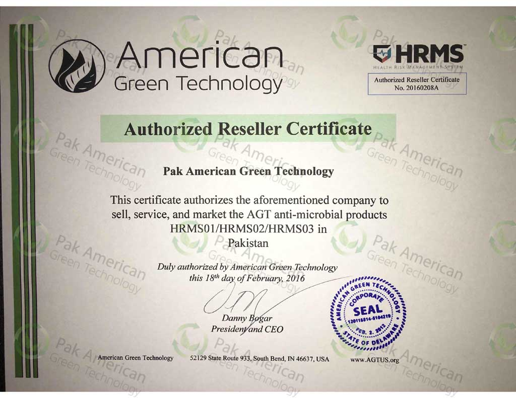 Pak american green technology hrms02 agt us reseller certificate xflitez Images